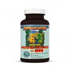 Витазаврики - жевательные мультивитаминные таблетки для детей с железом